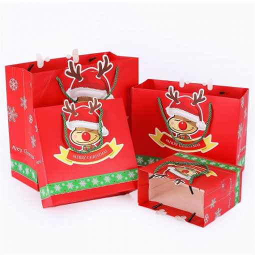 christmas paper bag for gift and shopping 02
