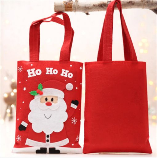 custom christmas gift cartoon tote colorful reusable bag 01