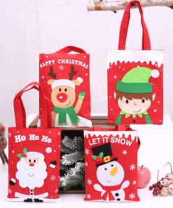 custom christmas gift cartoon tote colorful reusable bag 02