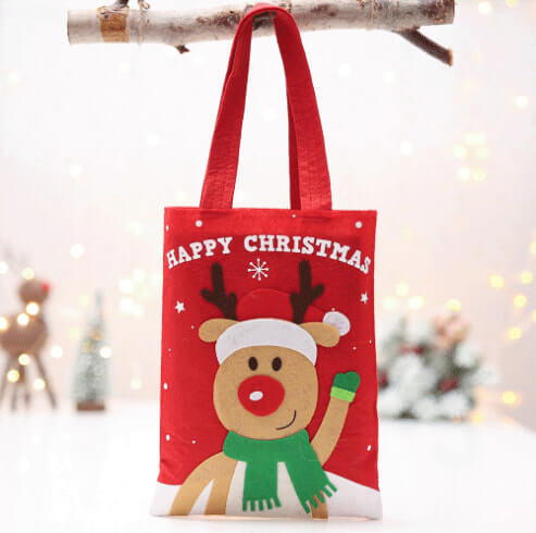 custom christmas gift cartoon tote colorful reusable bag 03