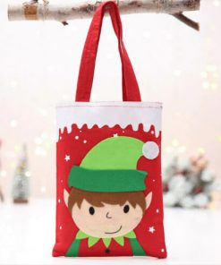 custom christmas gift cartoon tote colorful reusable bag 04