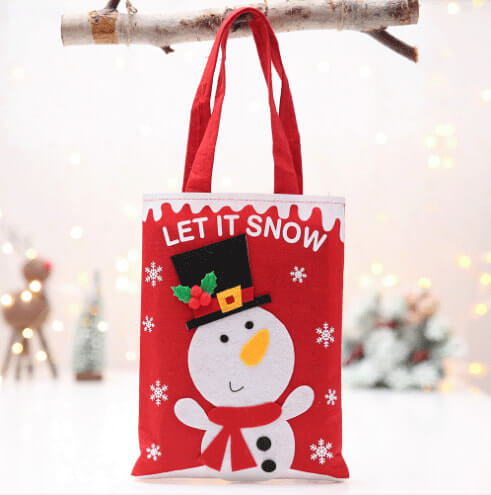custom christmas gift cartoon tote colorful reusable bag 05