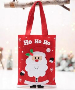 custom christmas gift cartoon tote colorful reusable bag 06