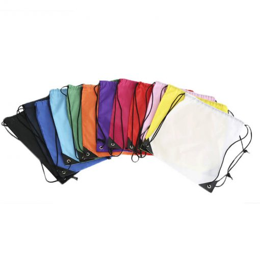 custom gift drawstring backpack polyester reusable tote bag 02