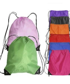 custom gift drawstring backpack polyester reusable tote bag 03