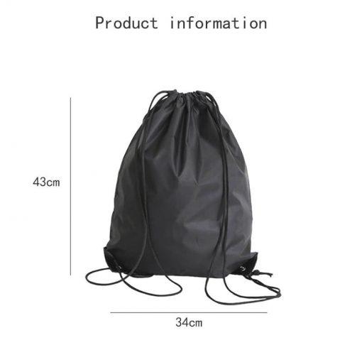 custom gift drawstring backpack polyester reusable tote bag 05