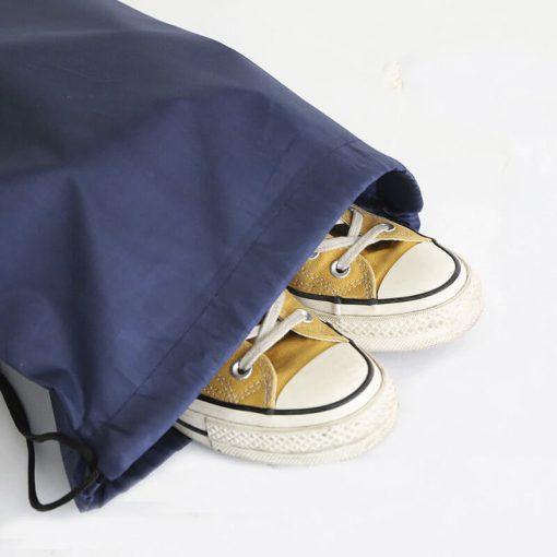 custom gift drawstring backpack polyester reusable tote bag 06