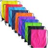 custom gift drawstring backpack polyester reusable tote bag 07