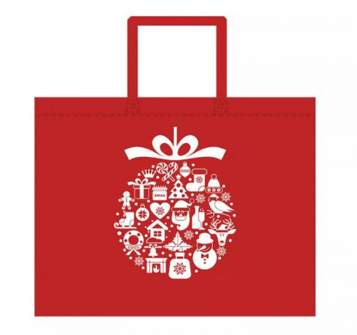 custom non-woven christmas gift reusable shopping bag 02