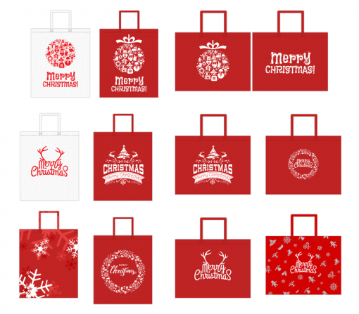 custom non-woven christmas gift reusable shopping bag 03