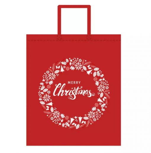 custom non-woven christmas gift reusable shopping bag 04