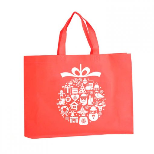 custom non-woven christmas gift reusable shopping bag 06