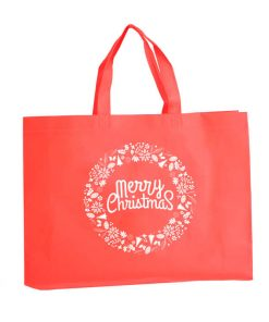 custom non-woven christmas gift reusable shopping bag 08