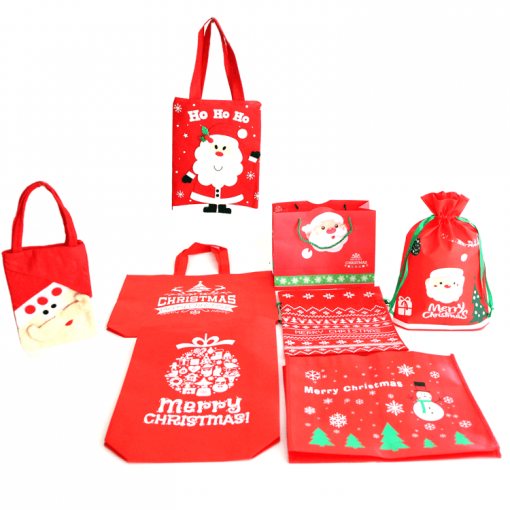 custom non-woven christmas gift reusable shopping bag 09