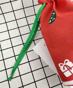 custom non-woven christmas reusable drawstring gift bag 03