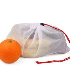 custom produce reusable nylon mesh kitchen fruits food storage bag 04