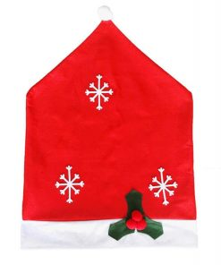 custom santa claus hat chair back covers for christmas decorative 01