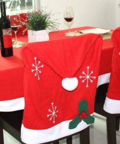 custom santa claus hat chair back covers for christmas decorative 03