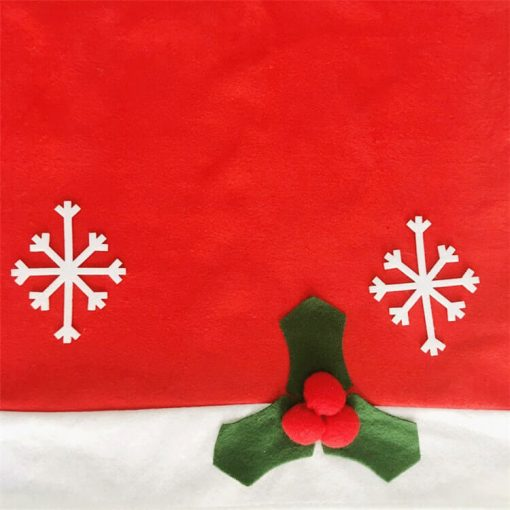 custom santa claus hat chair back covers for christmas decorative 04