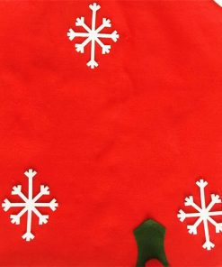 custom santa claus hat chair back covers for christmas decorative 05