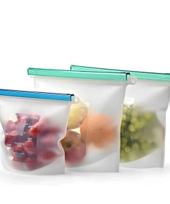 home preservation reusable container silicone food storage bag 04
