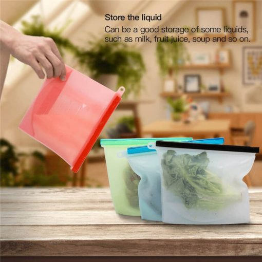home preservation reusable container silicone food storage bag 05