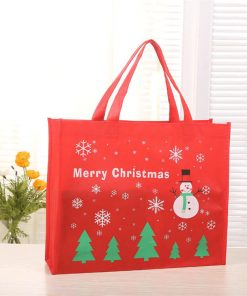 non-woven shopping tote reusable christmas gift bag 01