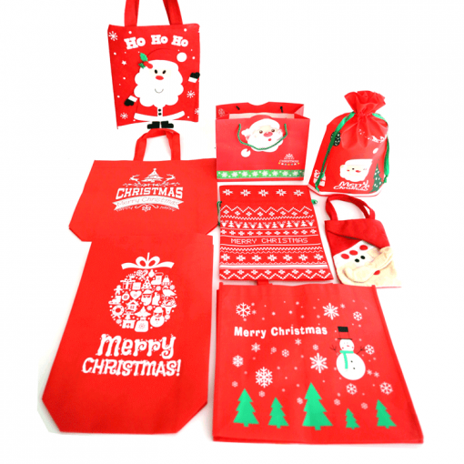 non-woven shopping tote reusable christmas gift bag 02