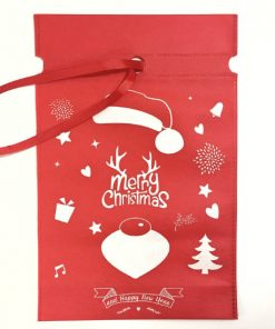 oem non-woven christmas reusable drawstring gift bag 01