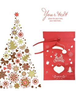 oem non-woven christmas reusable drawstring gift bag 02