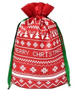 packaging gift christmas small non-woven drawstring bag 01