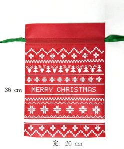 packaging gift christmas small non-woven drawstring bag 04