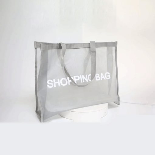 wholesale reusable tote mesh shopping bag nylon mesh beach net bag 02