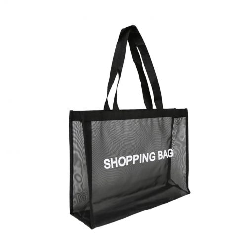 wholesale reusable tote mesh shopping bag nylon mesh beach net bag 05
