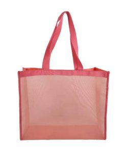 wholesale reusable tote mesh shopping bag nylon mesh beach net bag 06
