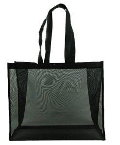 wholesale reusable tote mesh shopping bag nylon mesh beach net bag 07