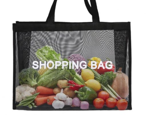 wholesale reusable tote mesh shopping bag nylon mesh beach net bag 10