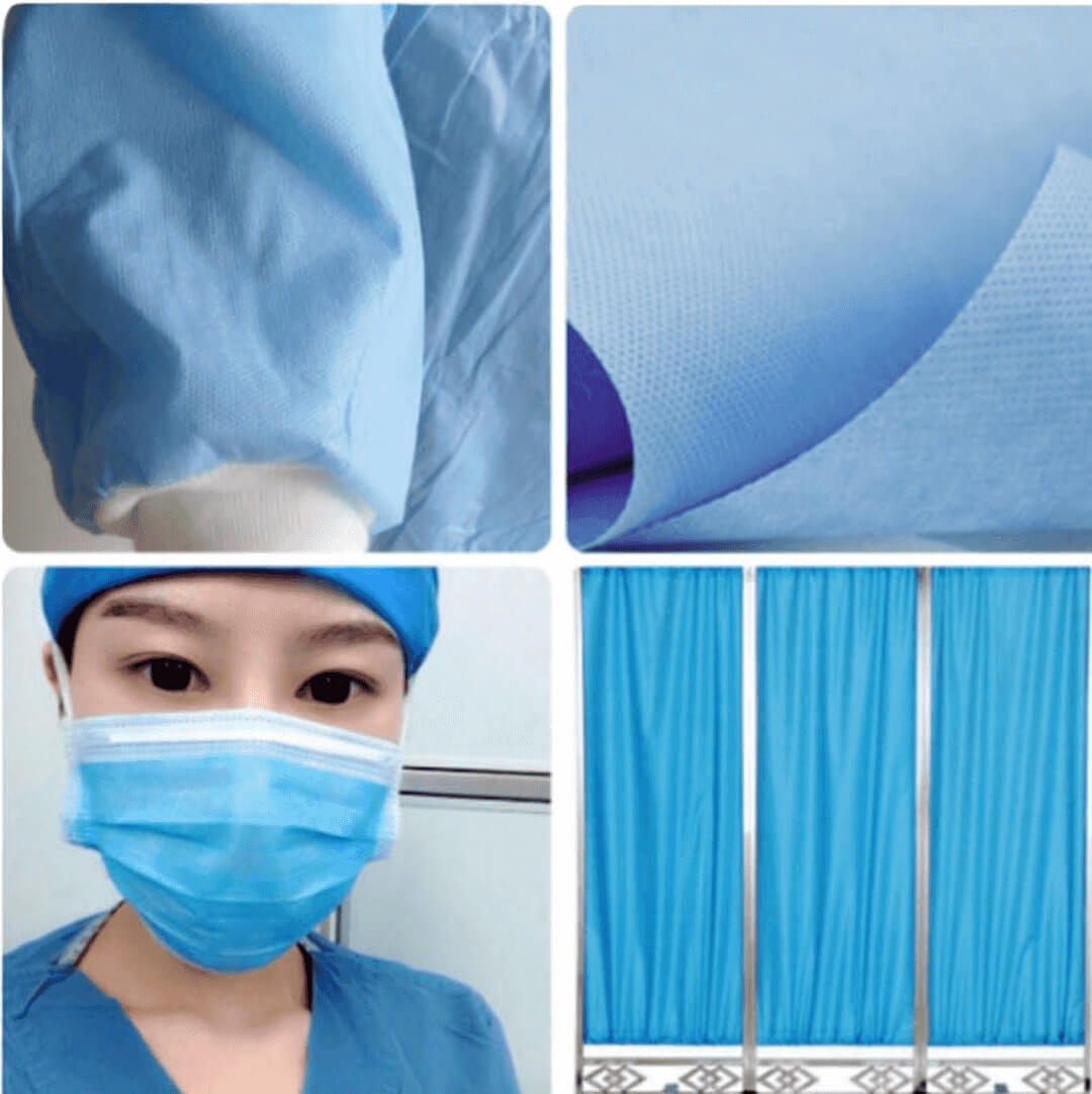 wholesale medical surgical face masks material spunbond polypropylene non-woven fabric 04