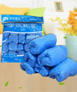 wholesale cleanroom protection blue biodegradable plastic waterproof disposable pe cpe safety shoe cover 01-01