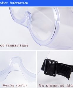 wholesale clear anti-fog design perfect eye glasses protective safety glass protection for lab chemical and workplace safety 01-05