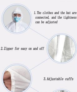 wholesale disposable medical equipment fast shipping hospital full body clothing coverall 01-03