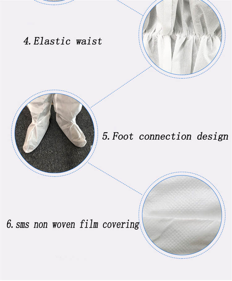 wholesale disposable medical equipment fast shipping hospital full body clothing coverall 01-04