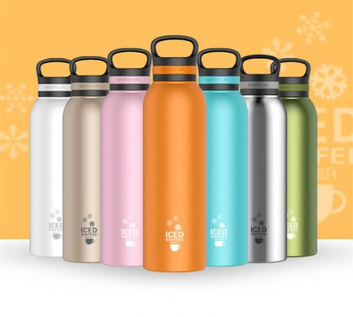 wholesale double wall drink bottle stainless steel vacuum flask water bottle insulated water flask 01-01