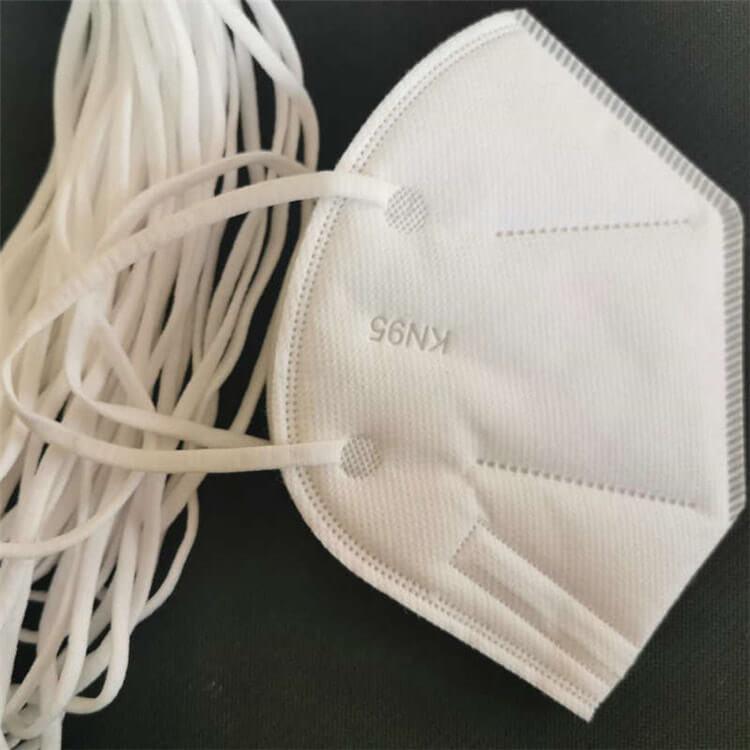 Wholesale Elastic Ear Loops Materials Elastic Rope 3mm 4mm 5mm Super Spandex Comfortable White Flat Raw Material Elastic Band 01