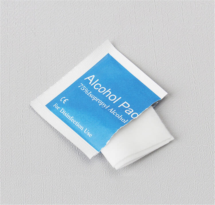 wholesale in stock factory price isopropyl alcohol ethyl alcohol prep pads 60x30mm 01-02
