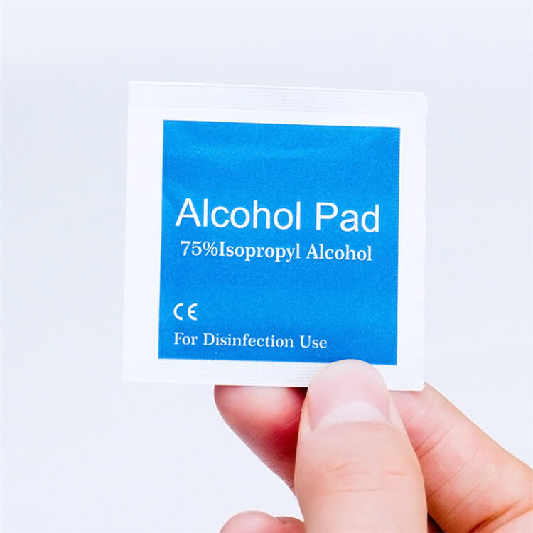wholesale in stock factory price isopropyl alcohol ethyl alcohol prep pads 60x30mm 01-03