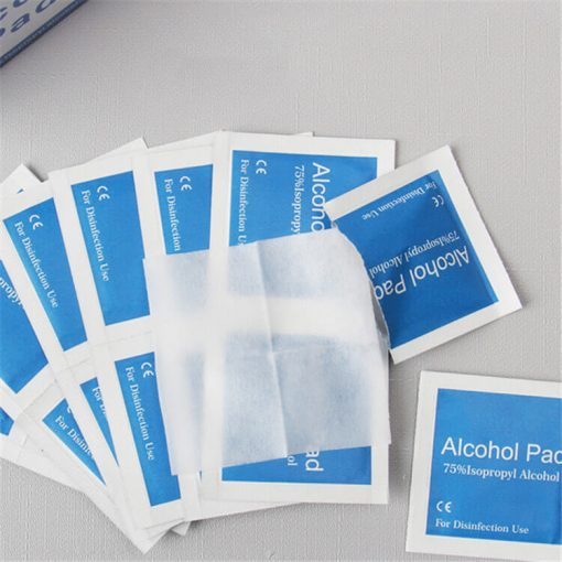 wholesale in stock factory price isopropyl alcohol ethyl alcohol prep pads 60x30mm 01-05