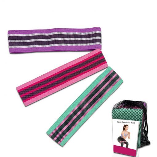 Wholesale Exercise Custom Printed Hip Circle Fabric Booty Band Gym Fitness Glute Resistance Band Adjustable Yoga Exercise Strap Loop Belt 02