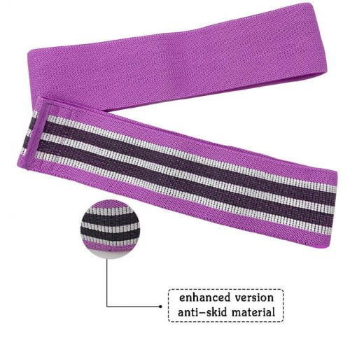 Wholesale Exercise Custom Printed Hip Circle Fabric Booty Band Gym Fitness Glute Resistance Band Adjustable Yoga Exercise Strap Loop Belt 04