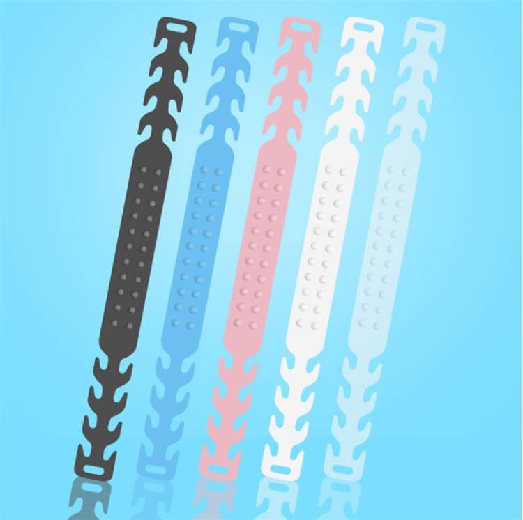 Wholesale Face Mask Ear Band Extension Hook 4-Gear Adjustable Face Cover Plastic Portable Ear Rope Accessory Anti-Slip Grip Buckle For Mouth Cover 01